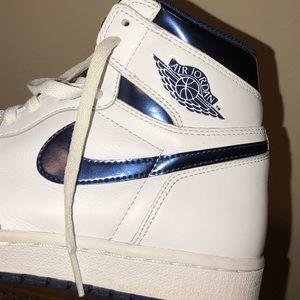"Air Jordan 1 retro high OG ""Metallic Navy"" sz:8"